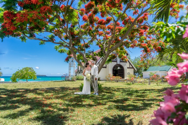 After-Wedding Fotoshooting in Cap Malheureux, Mauritius