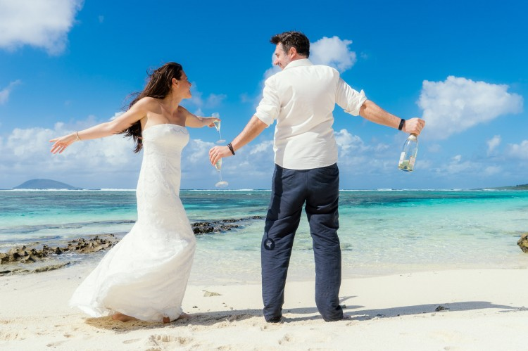 After-Wedding Shooting auf Flat Island, Mauritius